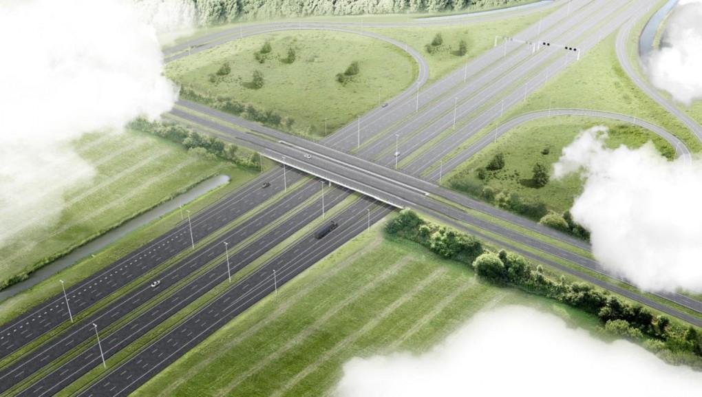 Nieuwe aansluiting Almere Havendreef