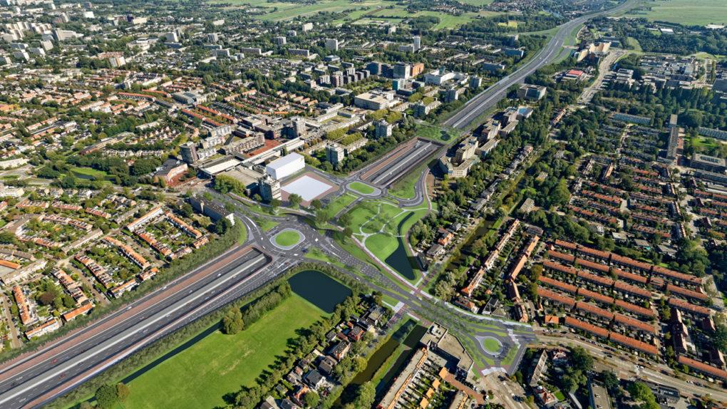 Verdiepte ligging A9 bij Amstelveen