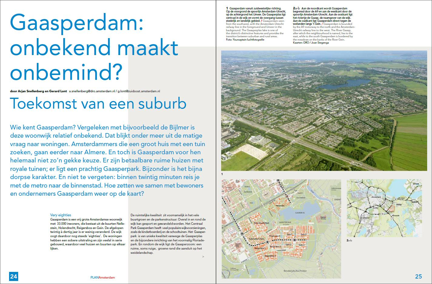 PlanAmsterdam - artikel Gaasperdam