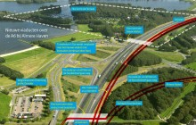 Nieuwe viaducten bij Almere Haven
