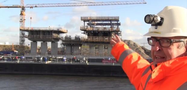 Peter Hollaar vertelt over de nieuwe brug over het Amsterdam-Rijnkanaal.