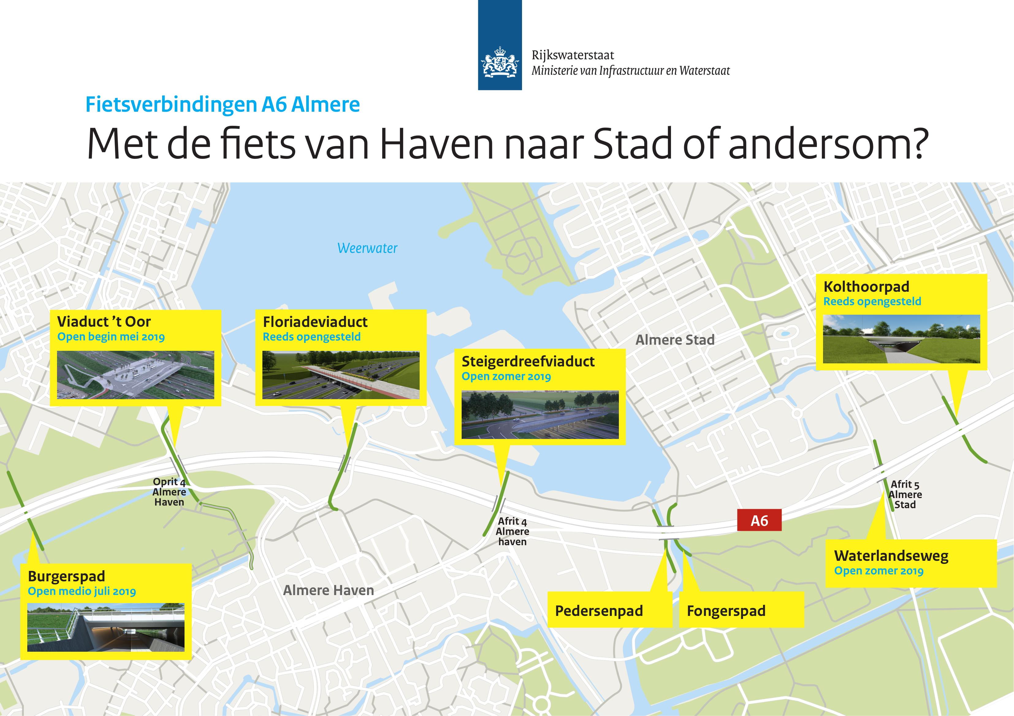 Vooruitblik Werkzaamheden A6 Almere In 2019 Rijkswaterstaat