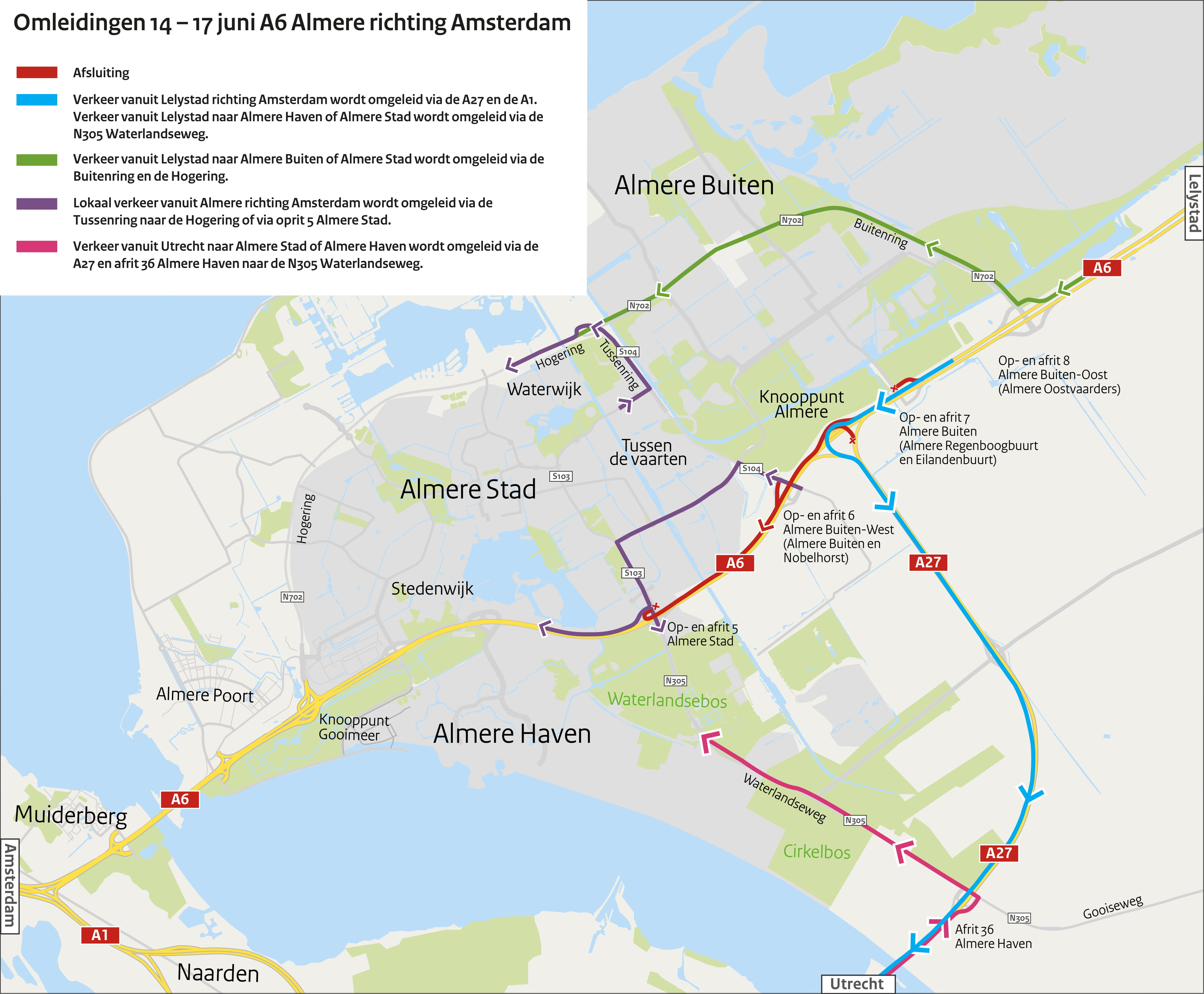 Kaart Almere Hogering En A27 06 06 19 D1 1 Rijkswaterstaat